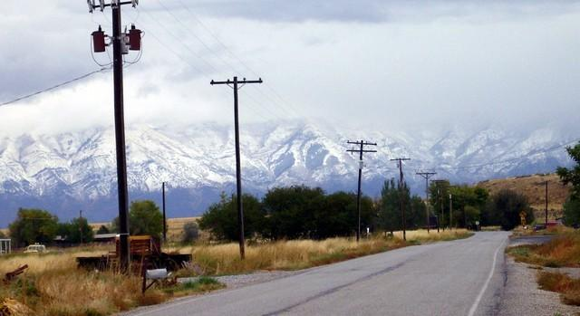 Snow received in the mountains of Utah today