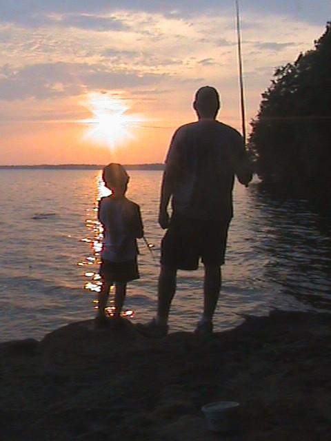 My Middle Son & Grandson fishing