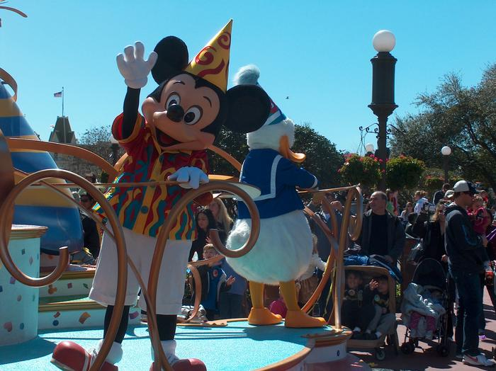 This was as close as we got to Mickey