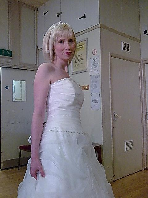 Modelling another wedding dress