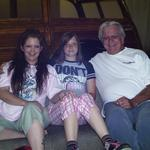 My daughter, Baylee, my dad and me
