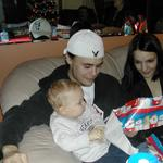 This is my husband my step son and I at Christmas
