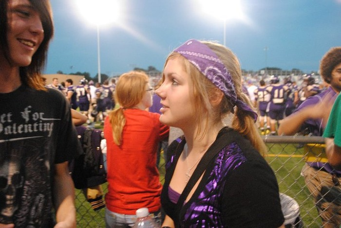 My daughter Mary at the game the night before the dance