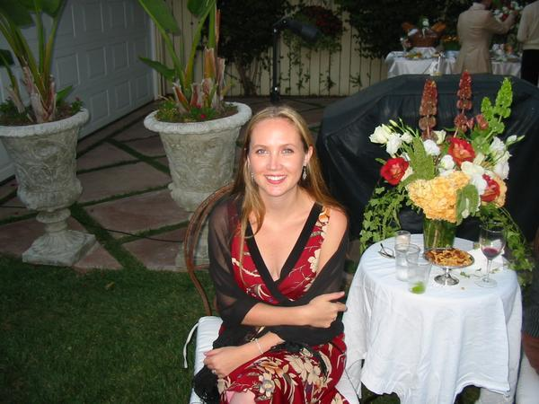 "It's me---at a ""real"" Hollywood party."