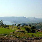View of the Sea of Galilee from the Mount of the Beatitudes