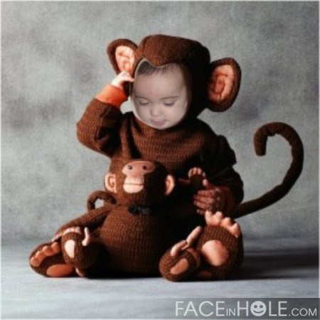 Anina as a monkey! LOL