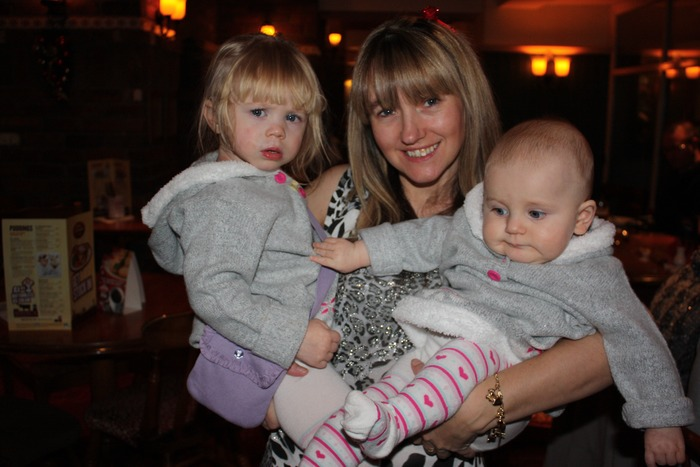 Me, my great neice evie, and molly my grandaughter