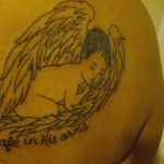 MY FIRST TAT IN MEMORY OF BABY#2 02/08/10