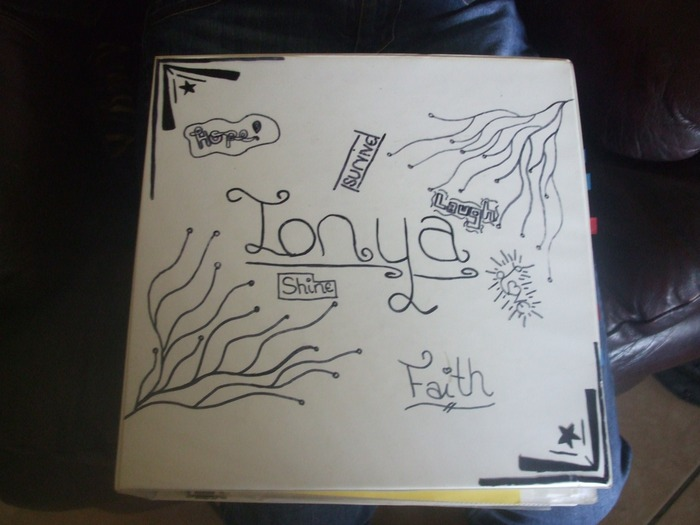 this is my front cover.  my daughter drew it for me.