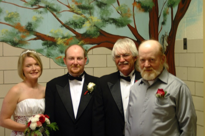 Me, my husband, my dad, and his dad