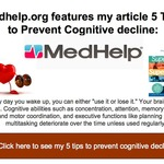 5 tips to prevent cognitive decline