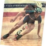 Mid-1990's, going full smoke on the bell lap of the 500 meter US National Inline Championships.