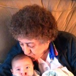 With Great Grandma