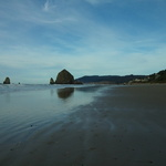 Beach on New Year's Day: Tolavana Beach, Haystack Rock