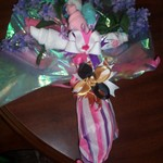 The undies and Bow boquet I made my daughter for her review. (she potty trained to be on stage)
