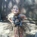 Her new saints tutu and top ( sold alot of these this year )