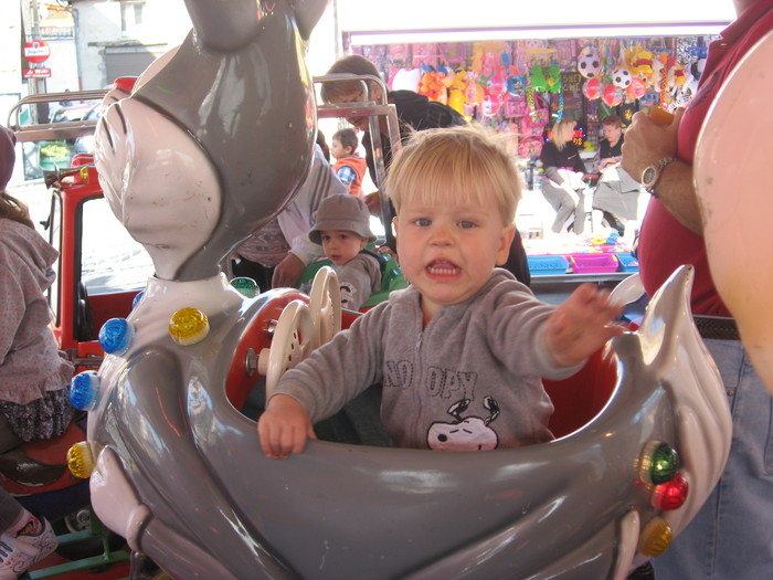 France 2012 - he loved the carousels!