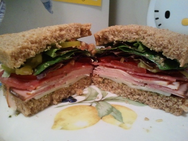 My version of the Dagwood sandwich from bread and ocean eaterie in Manzanita
