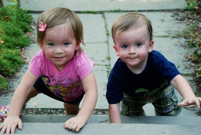 Carly & Ashton at 18 months.