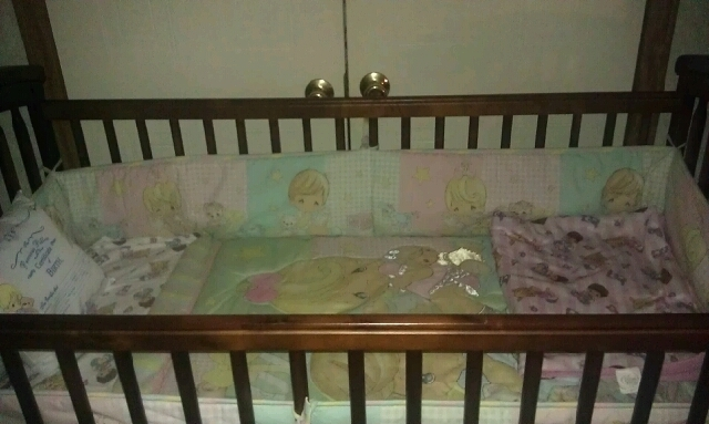 Hailey's crib :)) (got the crib bedding for only $20 brand new)