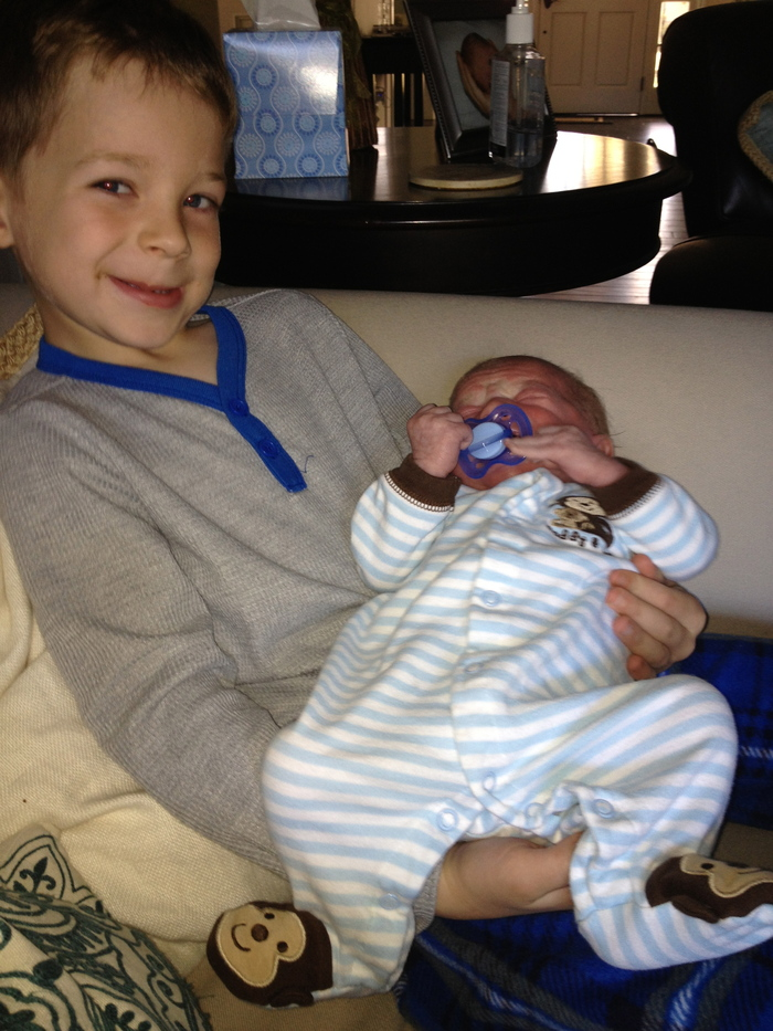 Carter with Hunter