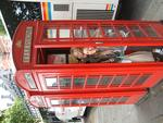 London phone box antics