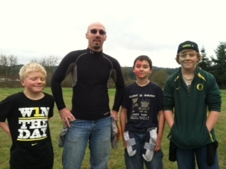4 of my favorite guys playing flag football