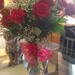 My roses daddy had deliverd to the hospital (the pic is @ home)