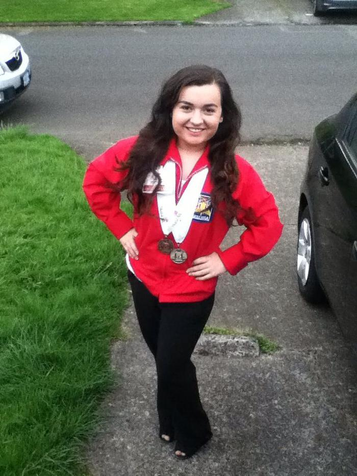 Ceana after SkillsUSA crime scene investigation competition she won Silver (See Journal)