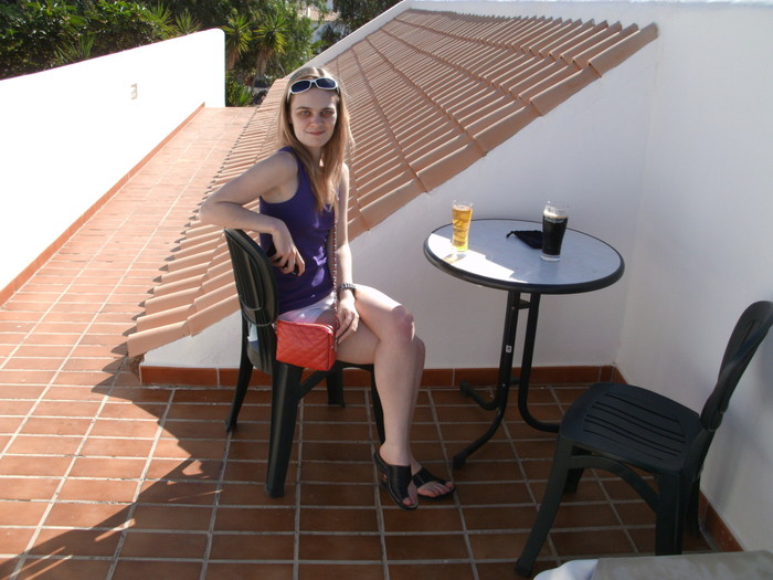 Me on the roof of my mum and stepdad's villa in Tenerife Jan 2013 - before hypo diagnosis