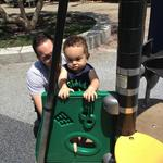 Christian playing at the park