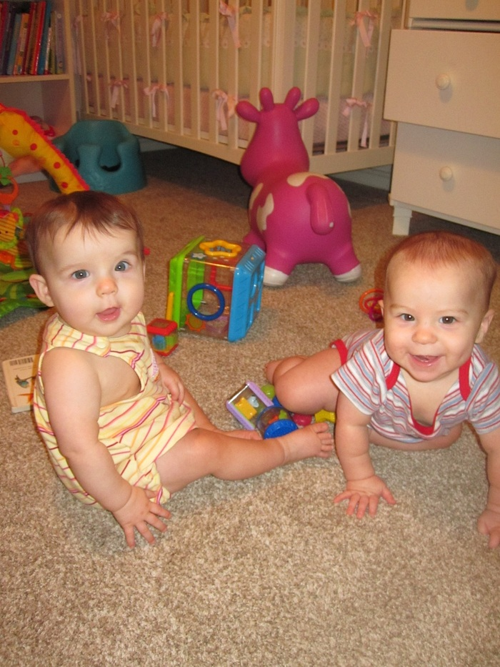 Twins at almost 9 mo