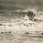 1971. Surfing the remains of hurricane Doria.