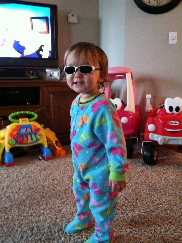Cami, pj's and shades :)