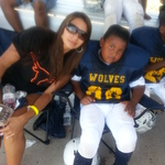 my mom and my football star
