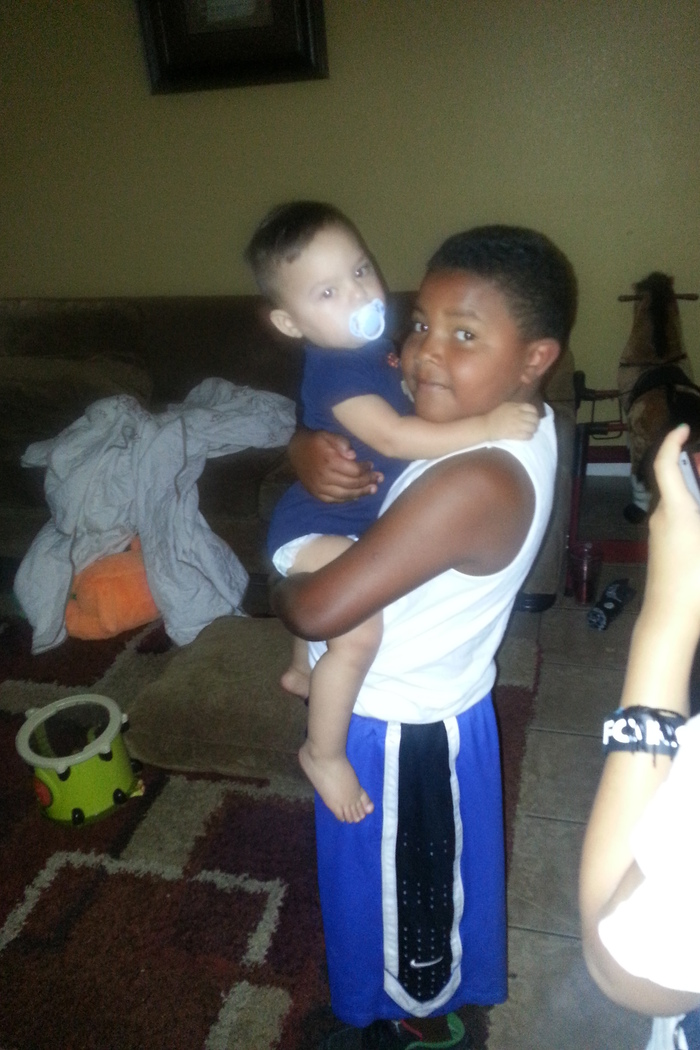 my son and little brother