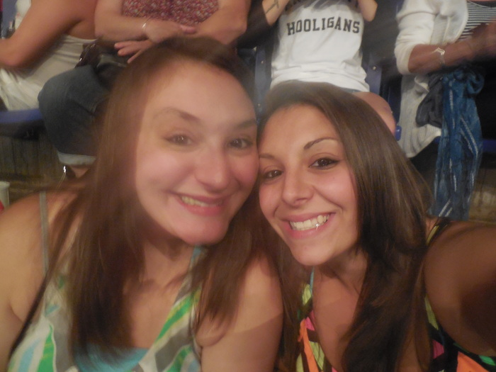 My sister (left) and I at the Bruno Mars concert!! :)