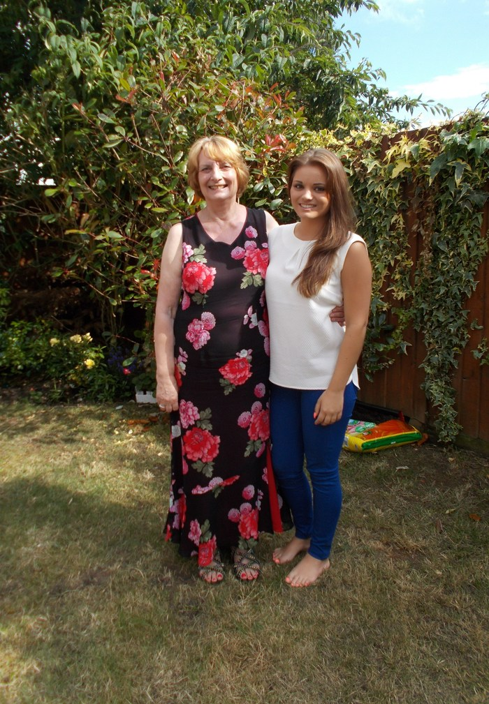 June 2014 Me with my granddaughter on her 21st Birthday