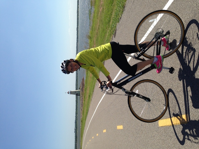 The day they found the tumor I jumped on my bike n rode Lake Hefner. I got this. xo