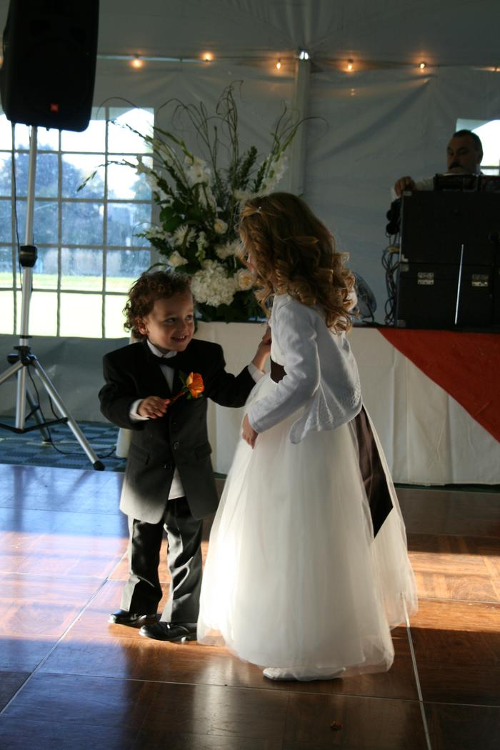 Nephew (ring bearer) and God Daughter (flowergirl)