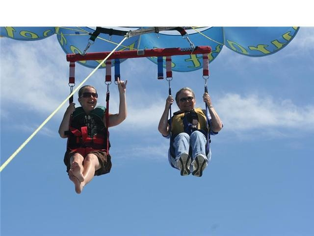 Parasailing in a dress, at this point Im rethinking my wardrobe choice....