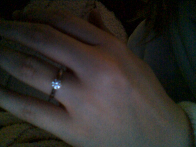 My pretty ring!  Of course I said yes!